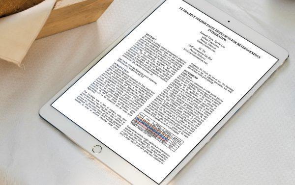 Ultra-fine Solder Paste Dispensing White Paper Cover